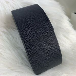 Prada black saffiano magnetic sunglasses case